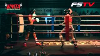 Junior fight Muay Thai Esma Hasshass (Team Smits) vs Angie Kasimovicz (Muay Thai Duisburg) @ Muay Thai and MMA event Brothers vs The Rest part 3, Sporthal Sw...