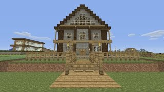Minecraft Tutorial: How To Make An Awesome Wooden Survival House. (ASH#5)