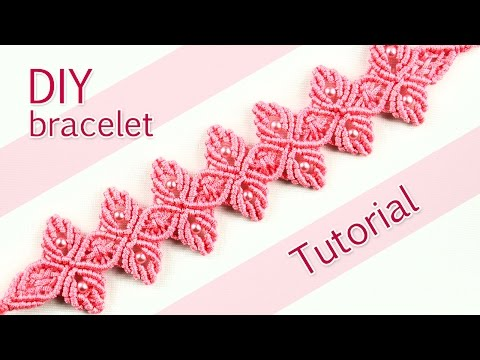 macramè - braccialetto floreale tutorial