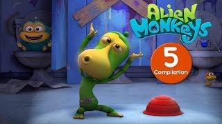 Video Funny Animated Cartoon - Alien Monkeys - Compilation - Cartoons For Children MP3, 3GP, MP4, WEBM, AVI, FLV Juni 2018
