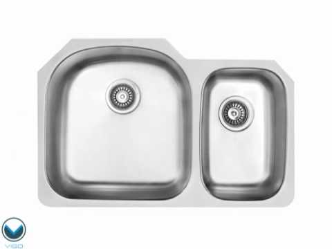Video for 31-Inch Undermount Stainless Steel 18 Gauge Double Bowl Kitchen Sink
