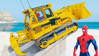 Video Learn Number Cars And Colors Excavator With Spiderman Family Nursery Rhymes For Kids MP3, 3GP, MP4, WEBM, AVI, FLV Maret 2018