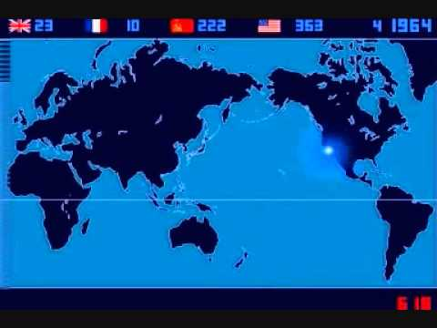 tutti i test nucleari ufficiali dal 1945 al 1998 (timelapse)