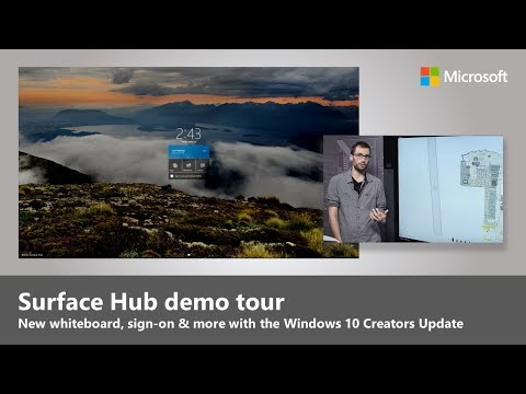 Watch a video about Creators Update on Surface Hub
