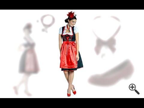 Wie wir Bianka ein Dirndl in Schwarz Rot zum perfekten Dirndl Outfit zusammenstellten