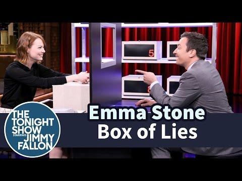 """إيما ستون أفشل كاذبة في تاريخ """"Box of Lies"""""""