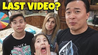 OUR LAST EVANTUBERAW VIDEO!!! International Mystery Wheel of Snacks! New Channel Name Announcement!
