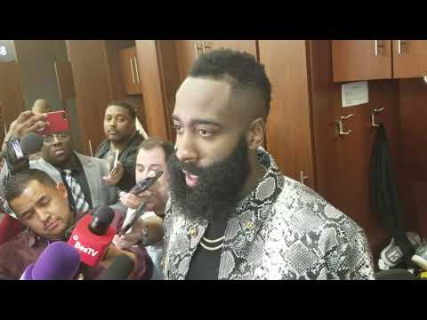 James Harden after dropping a 50-point triple-double on LeBron, Lakers