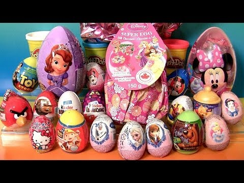 minnie - Hey guys, today Im opening several Easter Surprise Eggs as well as Kinder Surprise from different Movies Cartoon characters such as Disney Frozen Olaf the snowman, Angry Birds, Princess Anna,...