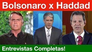 Bolsonaro x Haddad no Jornal Nacional completo! E análise de Rogério Betin.
