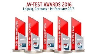 The AV-TEST AWARD 2016 On February 1, 2017, the AV-TEST Institute is presenting awards for the worldwide best protection ...
