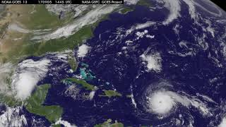 Satellite Animation Sees Category 5 Hurricane Irma and Tropical Storm Katia