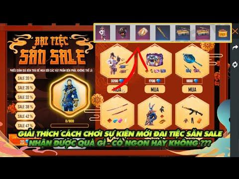 Free Fire| Giải thích cách chơi sự kiện mới đại tiệc săn sale - Sự kiện này có ngon hay không