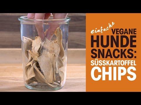 Einfache vegane Hundesnacks: Süßkartoffelchips / PETA