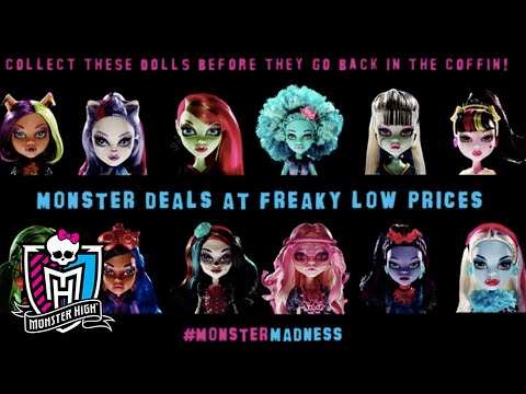 monster - Take advantage of freaky low prices while they last with our #MonsterMadness sale! Build your Monster High collection today! SUBSCRIBE: http://bit.ly/MonsterHighSub About Monster High: Freaky...