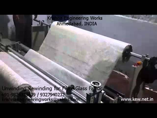 Unwinding Rewinding for Fiber Glass Fabric – Krishna Engineering Works