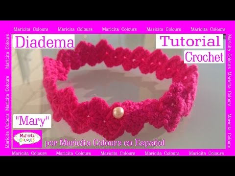 "Diadema Vincha A Crochet ""Mary"" Por Maricita Colours Tutorial Gratis English & Deutsch"