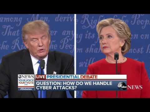 Presidential Debate Highlights | Clinton, Trump Debate Cybersecurity, Hacks
