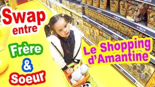 Video SWAP entre FRERE et SOEUR - AMANTINE fait son shopping de swap 😀 MP3, 3GP, MP4, WEBM, AVI, FLV Mei 2017