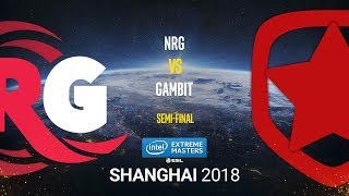 NRG vs Gambit - IEM Shanghai 2018 - Semi-final - map1 - de_train [Smile, Anishared]