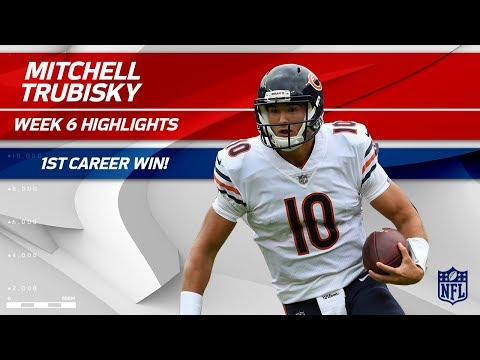 Video: Mitchell Trubisky's 1st Career Victory! | Bears vs. Ravens | Wk 6 Player Highlights