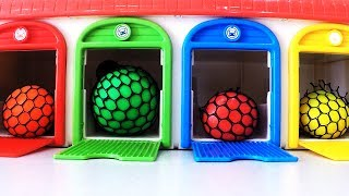 Learn Colors Sizes with Tayo Little Bus Playset Slime Balls Play Colors Magic Slime Toys Fun Kids