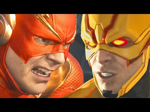 Injustice 2 Reverse Flash VS The Flash Battle Scene