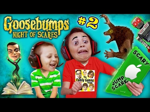WEREWOLF KNOCKED OFF MIKE's HEAD 🎃@AHHH!@#%👻! GOOSEBUMPS NIGHT OF JUMP SCARES #2 (w/ FGTEEV Chase) (видео)