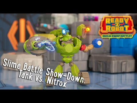 Ready2Robot | Slime Battle Show-Down: Tank vs. Nitrox | Official Action Figure Play Video