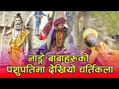 (Pashupatinath Temple मा नाङ्गे बाबाहरुको यस्तो चर्तिकला   गाँजामय पशुपति क्षेत्र...11 min.)