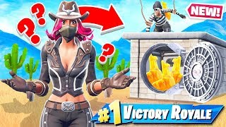 BANK HEIST Protect the LLAMA *NEW* Game mode in Fortnite Battle Royale