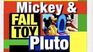 FAIL Disney Toy,  Funny Pluto and Mickey Mouse Clubhouse Review Mike Mozart JeepersMedia You Tube