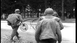 Dachau Germany  city photo : American Army troops entering area of Dachau Concentration Camp, Dachau, Germany,...HD Stock Footage