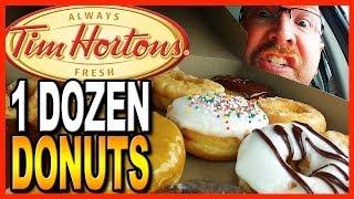 Video Tim Hortons ♥ 12 Donut Review and Challenge ♥ MP3, 3GP, MP4, WEBM, AVI, FLV September 2018