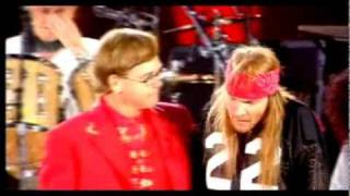Queen - Elton John&Axl Rose - Bohemian Rhapsody - (Freddie Mercury Tribute Concert)