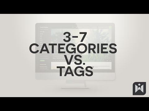 Categories vs. Tags  in WordPress