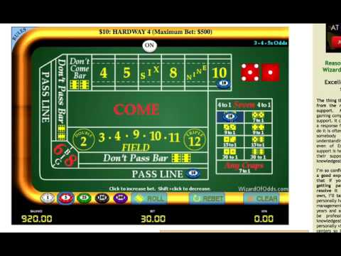 Best CRAPS Strategy – turn $300 into $4000+