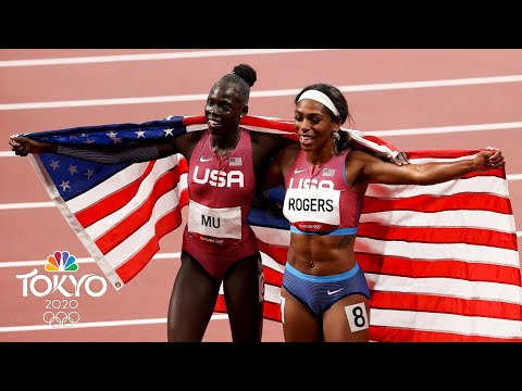 Athing Mu, 19, wins first USA 800m gold in 53 YEARS (With Replays) | Tokyo Olympics | NBC Sports