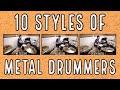 Download Lagu 10 styles of metal drummers Mp3 Free
