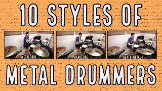 10 styles of metal drummers - YouTube