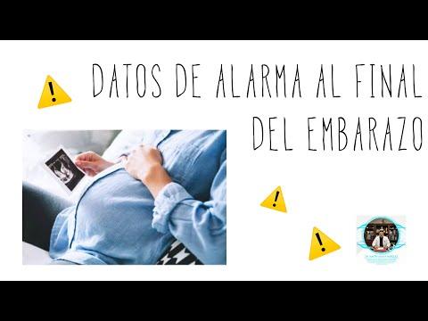 Datos de alarma al final del embarazo !!