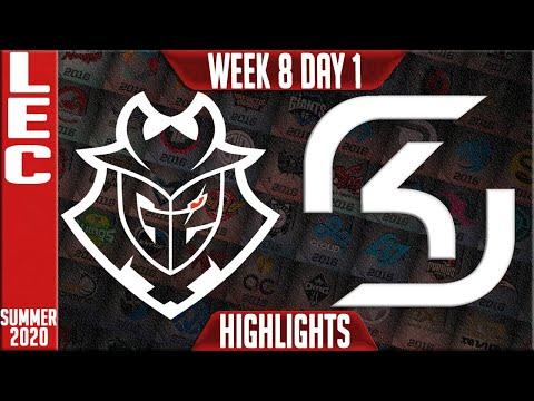 G2 vs SK Highlights | LEC Summer 2020 W8D1 | G2 Esports vs SK Gaming