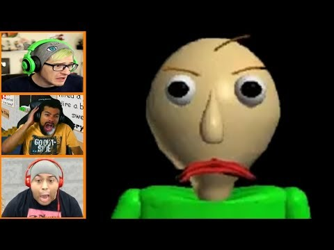 More Let's Players Reaction To Making Baldi Angry | Baldi's basics in education and learning