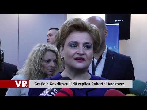 Grațiela Gavrilescu îi dă replica Robertei Anastase