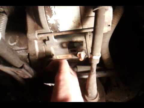 removing the starter 01-06 Chrysler Sebring Convertible LXI