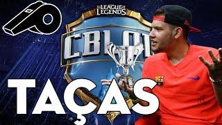 Fizemos uma brincadeira com as taças dos campeonatos de futebol e os de League of Legends, o que acharam da ideia ?