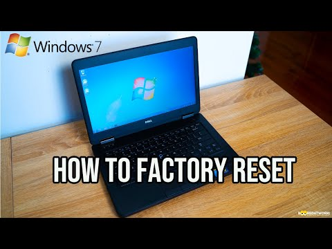 How to easily Factory Reset a Windows 7 PC