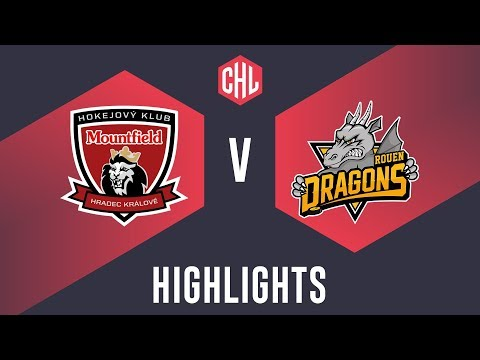 Highlights: Mountfield HK vs. Rouen Dragons (видео)