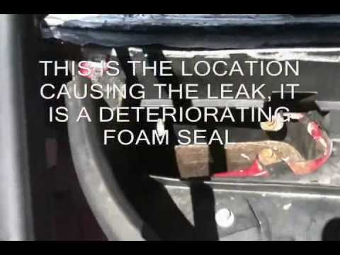 HOW TO STOP WATER LEAKING INSIDE LINCOLN TOWN CAR & STOP WET CARPET