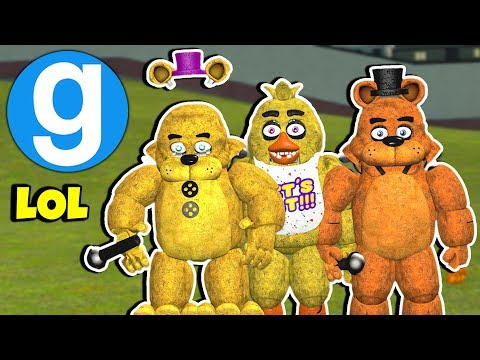 Garrys Mod - Brand New FNAF 1 Ragdoll Pack Spotlight!  Five Nights at Freddy's Garry's Mod Sandbox